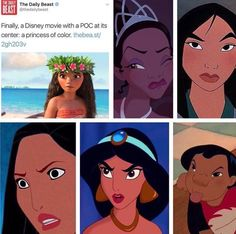 *rolls eyes into back of head* you're stupid to believe that Moana is the only Disney Princess of color