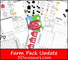 Free Farm Pack Update For ages 2 to 8 - 3Dinosaurs.com