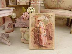 Maison de poupées miniature 1:12th échelle Rose /& Blanc Pet Bed