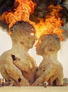 The annual Burning Man Festival is a celebration of art, music, and everything creative. It is held in Nevada's Black Rock Desert. Burning Man 2014, Burning Man Art, The Burning Man Festival, Burning Man Sculpture, Wood Sculpture, Instalation Art, Festivals Around The World, Foto Art, Another World