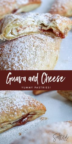 A delicious buttery and Cuban pastry filled with guava and cream cheese, it is actually called Pastelitos de Guayaba y Queso Guava Desserts, Hawaiian Dessert Recipes, Guava Recipes, Sweets Recipes, Easy Desserts, Baking Recipes, Delicious Desserts, Danish Pastry Dough Recipe, Puff Pastry Recipes
