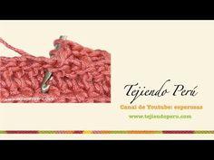 Crochet: cómo tejer un punto en relieve tomado por delante del tejido - YouTube