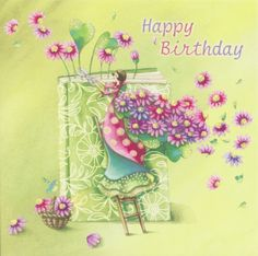 Nina Chen Happy Birthday Wishes, Birthday Greetings, Art Fantaisiste, Art Carte, Art Et Illustration, Happy B Day, Jolie Photo, Whimsical Art, Love Art