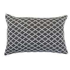 Jali Black/White Lumber Cushion 35x53cm - Bandhini Homewear Design