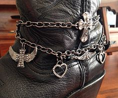 Boot Jewelry, Boot Bracelet, Boot Bling, Boot Charms, Christian Bracelet, Cowgirl Boot Bracelet, Cowgirl Boot Bracelet by DorysBoutique on Etsy
