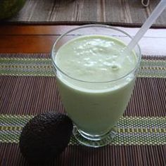 "Coconut Avocado Smoothie | ""This is my new favorite smoothie! My husband is still in denial that it has avocado in it.""  http://allrecipes.com/Recipe/Coconut-Avocado-Smoothie/Detail.aspx"