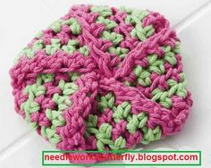 Needle-Works Butterfly: Crochet Puzzle Ball Tawashi For Your Dishes