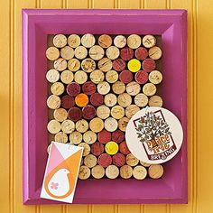 Wallflower Personality-have to recycle these wine corks, this is cute and I could use it!