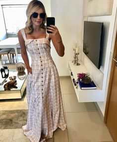 Moda Fashion Ideas Casual Ideas For 2019 Denim Skirt Outfits, Summer Dress Outfits, Casual Dresses, Elle Fashion, Boho Fashion, Fashion Outfits, Fashion Ideas, Check Dress, Mi Long