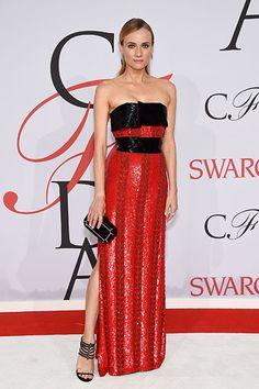 Diane Kruger in Prabal Gurung at the CFDA Awards
