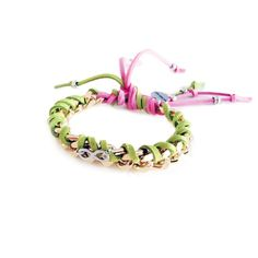 Friendship Bracelet With Gold Chains, Colorful Suede Ribbons and... ($28) ❤ liked on Polyvore featuring jewelry, bracelets, infinity friendship bracelet, hippie jewelry, infinity jewelry, gold charms and gold bangles