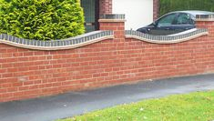 Your garden wall protects your home, pets and family. Choosing the wall to build can be task. We help explain the different options and the building costs. Brick Garden, Brick Fence, Brick Wall, Garden Walls, House Fence Design, Driveway Design, Garden Design, Front Garden Ideas Driveway, Driveway Gate