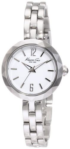 Kenneth Cole New York Women's KC4763 Classic Silver Diamond Cut Bezel Round Watch * See this great product. (This is an Amazon Affiliate link and I receive a commission for the sales)