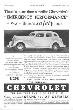 Chevrolet Autocar Car Advert 1936 -