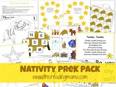 Focus on the Nativity with a FREE Nativity PreK Pack |