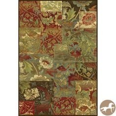 Christopher Knight Home Mocha Flora Area Rug (7'10 x 11'2) $437.99 overstock