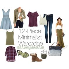 An olive base and denim accents for this #minimalist #wardrobe great for #travel if you are planning #whattopack. $631 total.