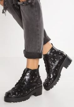 Topshop - KIWI - Bottines à plateau - black