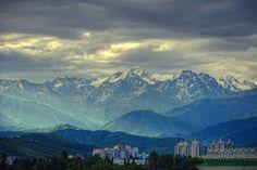 Kazakhstan Mountains Line View