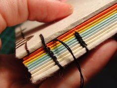 How to bind a book. PLUS a great way to make waxed thread....