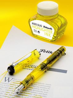 Pelikan Fountain pen  クラシック205 DUO イエローデモンストレーター M205