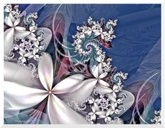 Hello Everyone, I hope you are all having a great holiday season! I've finally gotten around to creating some new pieces for my 2009 Fractal Calendar. This one is for July... I love white flowers. ...