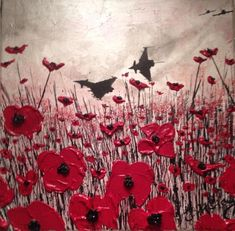"""""""Flight For Freedom"""" By Jacqueline Hurley War Poppy Collection Port Out, Starboard Home POSH Original Art The War Poppy Collection Lest We Forget Typhoons & Poppies Textiles Sketchbook, Art Sketchbook, Ww1 Art, Remembrance Day Poppy, Freedom Art, Military Art, A Level Art, Flower Art, Art Projects"""