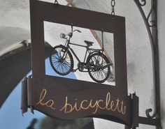 Love this sign - from a bicycle shop in Carmel