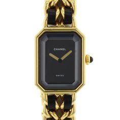 Chanel Première en plaqué or et cuir Vers 1990