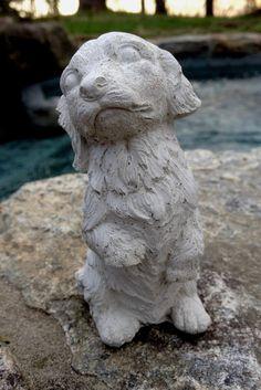 Concrete Dachshund Statue, Dog Garden Statues, Concrete Garden Decor, Pet Loss, Pet Sympathy Pet Memorial, Loss of Pet, Dachshund  Statue