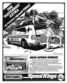 Matchbox Speed Twins Rescue Squad Ad 1975 by combomphotos, via Flickr