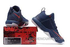 0c5b2fe13162 Nike Lebron Ambassador 9 Navy Blue Red Lastest