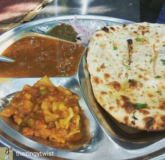 Via @thezingytwist -  The bunk breakfast.... Food be my escape for lectures I don't like to attend or the teacher may be! Alloo naan with Alloo gobhi and dal(Rs40). #thezingytwist  #foods #foodie #food  #foodporn #food #foodelicious #foodescape #delhigram #delhifoodguide #delhi #delhincr #delhidiaries #delhifoodwalks #delhifood #delhifoodie #delhifoodblogger #delhifoodies #yehdillihai #dildilli #yehhaidillimerijaan #heydelhi #saadidilli #saadidelhi #justdelhiing #foodphotography #dfordelhi