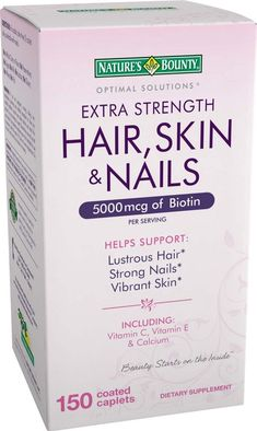 I use this stuff, amazing! - Nature's Bounty Extra Strength Hair Skin Nails, 150 Count Best Hair Vitamins, Vitamins For Skin, Vitamins For Hair Growth, Hair And Nail Supplements, Best Hair Growth Supplements, Natural Hair Growth, Natural Hair Styles, Nail Growth, Strong Nails