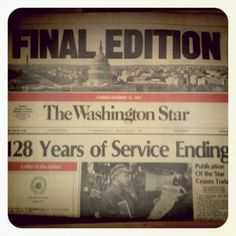 Washington Star, Final Edition, Aug. 8, 1981