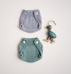 These diaper covers that are so cute you won't even think about what lies beneath. | 15 Impossibly Adorable Knitting Patterns For The Baby In Your Life
