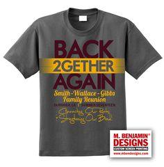 Family Reunion T- Shirt Family Reunion Shirts, Family Reunions, Reunion Tshirt Design, Volunteer Ideas, Custom Screen Printing, Family Cruise, Tee Shirt Designs, All Family, Family Affair