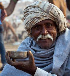 Pushkar - masala chai for a camel trader . India  ( tea )