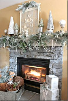 """I want to do this """"O Holy Night"""" frame. I miss my fireplace!!! Can't wait until I get another one!!!"""