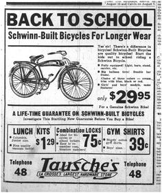 Schwinn Vintage Ad #bicycles, #bicycle, #pinsland, https://apps.facebook.com/yangutu