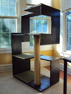 Contemporary Cat Trees Table Top : Modern Contemporary Cat Tree ...