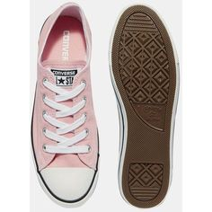 37632bd0e398 Converse Pink Dainty Chuck Taylor All Star Trainers ( 65) ❤ liked on  Polyvore featuring