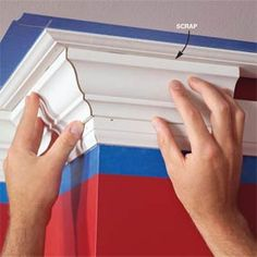 How to install crown molding. Still need to do this in our main bath