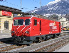 MGB 106 Matterhorn Gotthard Bahn MGB at Brig, Switzerland by Janet Cottrell