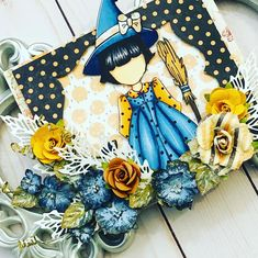 The Cutest Doll stamp turned into a cute card perfect for Halloween From Design Team Member DG @dgdangina Click to check out our products and find a retailer near you! #primamarketinginc #createwithprima #PrimaMarketing #Prima #Flowers #scrapbook #mixedmedia #art #embellishment #Finnabair #scrapbooking #artist #design Scrapbook Cards, Scrapbooking, Prima Marketing, Cute Dolls, Cute Cards, Other Accessories, Paper Dolls, Embellishments, Witch