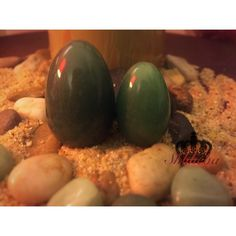 """Green Aventurine Yoni Egg Chakra: Heart Green Aventurine is often know as the """"Stone of Opportunity""""! Green Aventurine attracts love, luck, prosperity, and encourages positive thinking and courage. If you're looking to change jobs, become more financially secure, or attract the love of your life then Green Aventurine is the stone for you! Green Aventurine helps with fertility, blood circulation, nausea, headaches, and sleep disorders #yoniegg #yonieggs #greenaventurine #crystals…"""