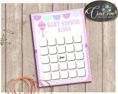 Baby Shower Rattler Rattle Baby Shower Write Down Gifts Bingo Guess Presents BINGO GIFT GAME, Printable Files, Party Décor - bsr01 #babyshowergames #babyshower