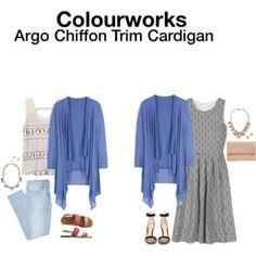 Colourworks Argo Chiffon Trim Cardigan