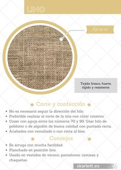 Recopilatorio de más de 60 telas diferentes con información sobre su corte y confección y curiosidades. #lino #telas #recopilatorio Fashion Sewing, Fashion Fabric, Diy Fashion, Textile Fabrics, Textile Patterns, Sewing Patterns, Sewing Basics, Sewing Hacks, Sewing Projects