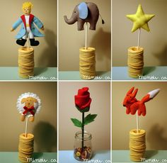Character of the book in felt, can be used as table decoration